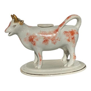 Antique Staffordshire Cow Creamer For Sale
