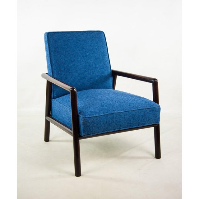 Jens Risom for Knoll Mid-Century Modern Blue Lounge Chair For Sale - Image 13 of 13