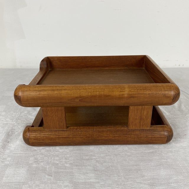 """A Vintage Kalmar Designs Thai Teakwood Letter Tray 1970's Made in Thailand Holds a standard 8 1/2""""x11"""" sheet of paper..."""