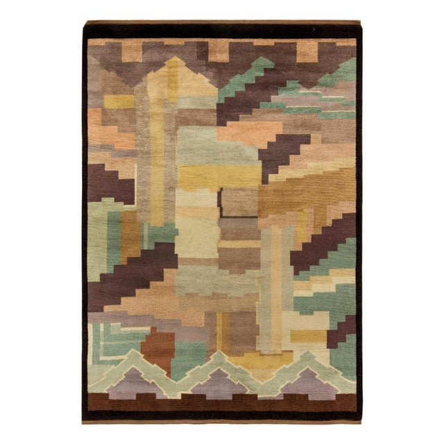 Mid 20th Century Vintage French Deco Rug by Greta Skoaster Woven at Kiikan Kutamo Workshop For Sale - Image 5 of 5