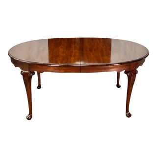 Vintage Statton Furniture Old Towne Cherry Chippendale Style Dining Table For Sale