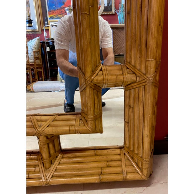 Vintage Kreiss Rattan Mirror For Sale In Tampa - Image 6 of 11