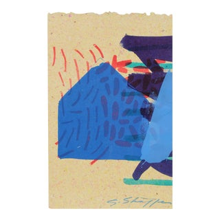 Abstract Lithograph on Handmade Paper, 1997 For Sale