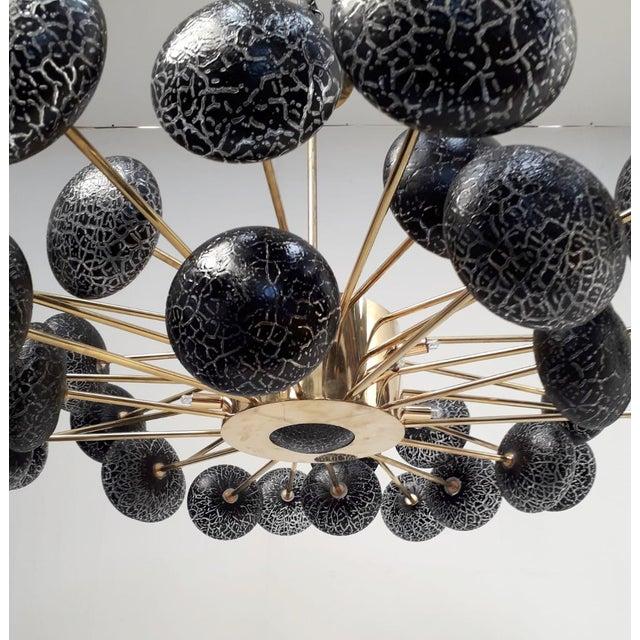 Black Crackled Globes Chandelier by Fabio Ltd For Sale - Image 8 of 12