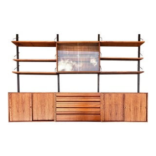 Poul Cadovius Danish Modern Walnut 3 Pc. Wall System