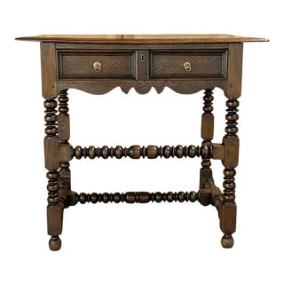 19th Century Rustic Jacobean End Table For Sale