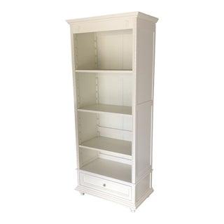 Transitional White Pottery Barn Bookshelf For Sale