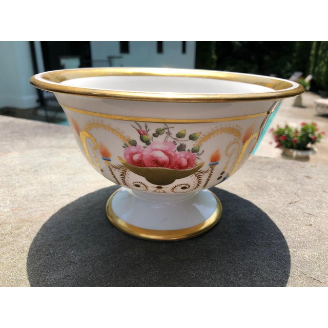 Early 19th Century 19th English Traditional Davenport Gilt Decorated Billingsley Roses Bowl For Sale - Image 5 of 12