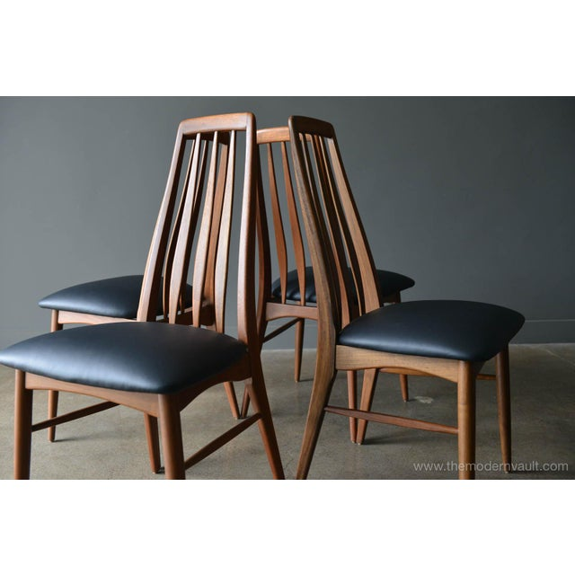"""1960s 1960s Vintage Koefoed of Denmark Walnut High Back """"Eva"""" Dining Chairs - Set of 8 For Sale - Image 5 of 12"""