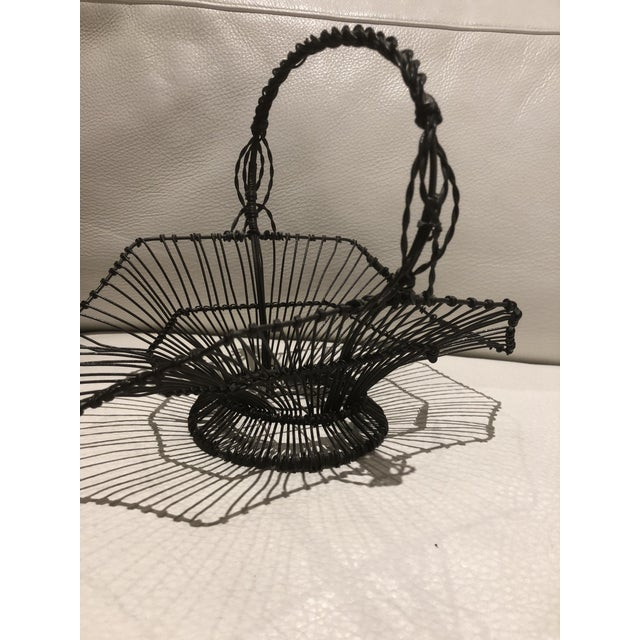 French Wire Basket For Sale - Image 4 of 6