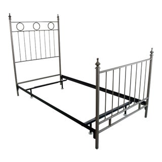 Late 19th Century Antique Twin Iron Bed For Sale