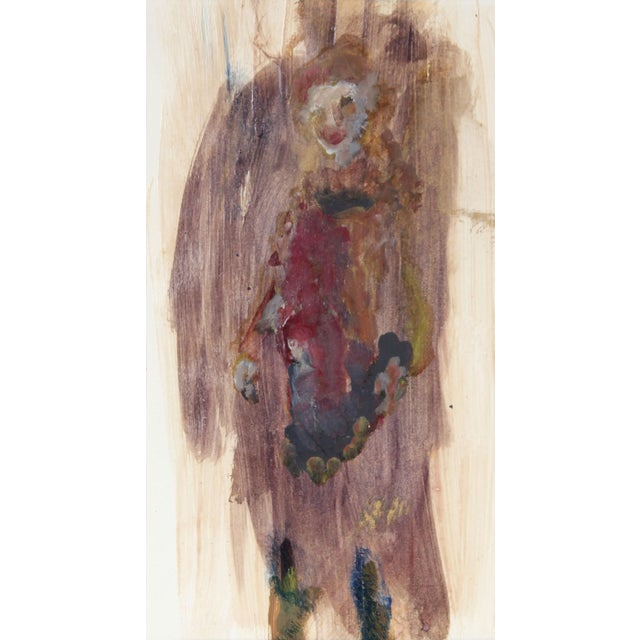 Distemper Painting, Portrait of San Francisco Poet Madeline Gleason, Circa 1960s For Sale