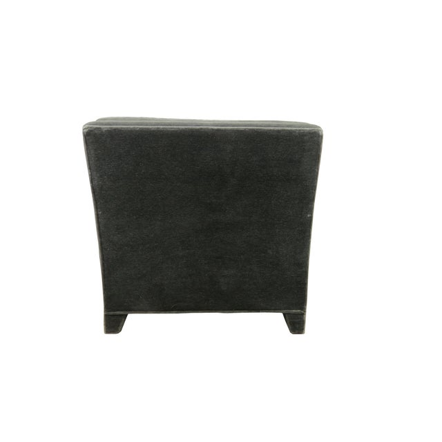 1980s Donghia Art Deco Style Gray Mohair & Down Club / Lounge Chairs - a Pair For Sale - Image 10 of 13