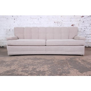 Mid-Century Modern Curved Tufted Sofa, Newly Reupholstered Preview