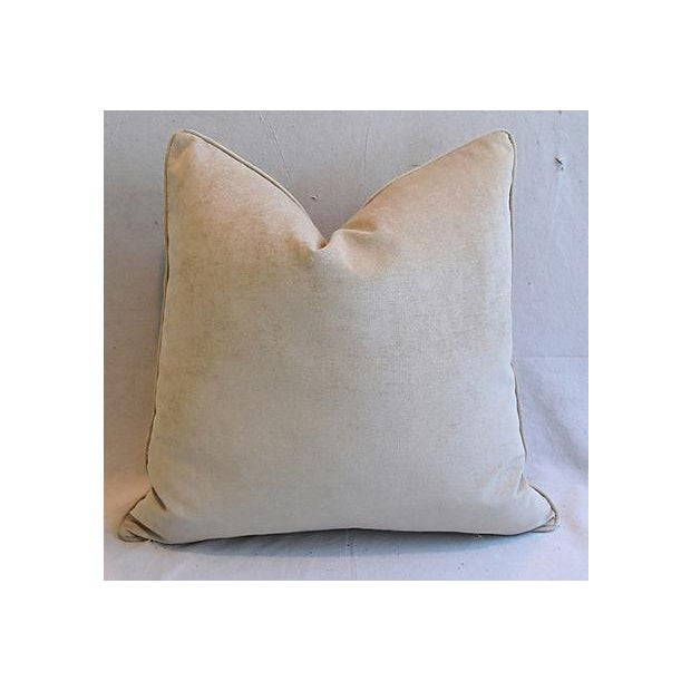 """25"""" Custom Tailored Woodland Toile Deer & Velvet Feather/Down Pillows - Pair For Sale - Image 9 of 11"""