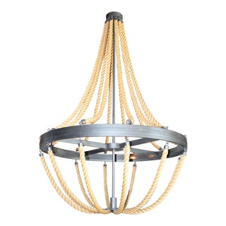 Erin Martin Custom Rope Chandelier For Sale