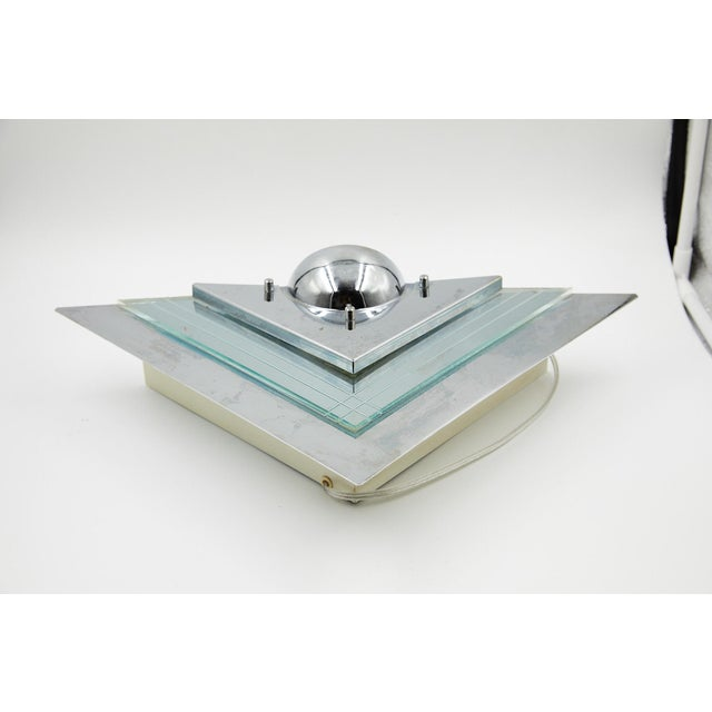 Glass Pair of Art Deco Mirrored Wall Sconces For Sale - Image 7 of 11