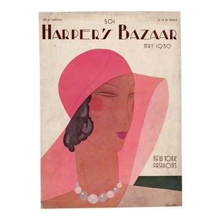 """Harper's Bazaar, May 1930."" Original Vintage Fashion Magazine Cover For Sale"