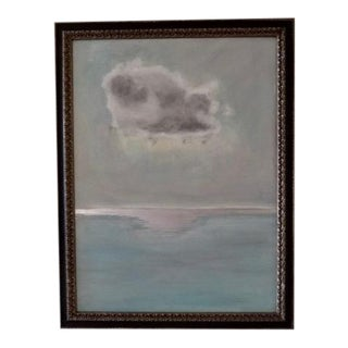 """Original Oil Painting """"Storm Cloud With Pool of Light"""""""