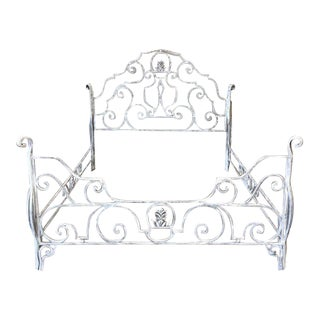 Vintage Wrought Iron Queen Size Bed