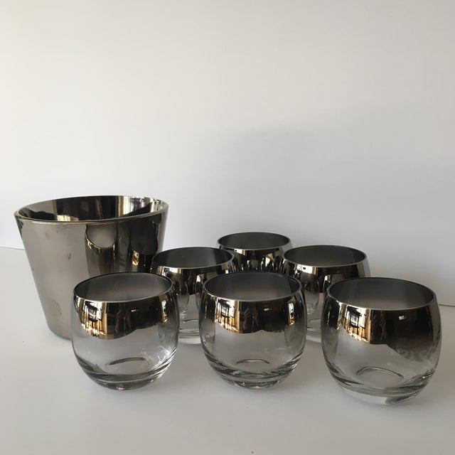Silver Mid-Century Vitreon Queens Lusterware Set - Set of 7 For Sale - Image 8 of 9