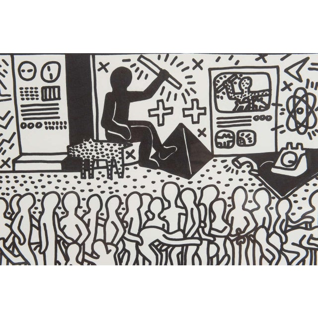 Keith Haring Serigraph, New York 1982 For Sale In Miami - Image 6 of 9
