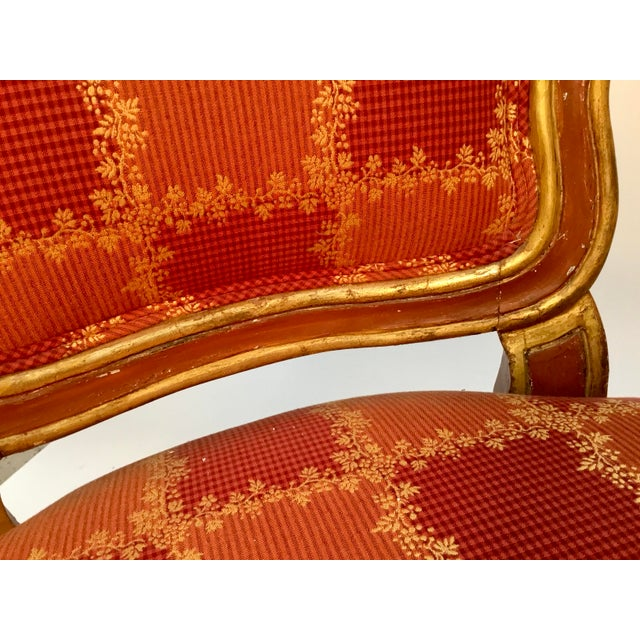 19th Century Venetian Louis XV Style Painted and Gilt Armchairs- A Pair For Sale - Image 11 of 13