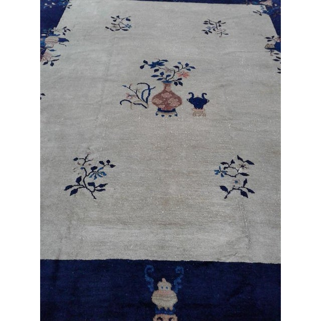 Art Deco Early 20th Century Antique Chinese Wool Rug - 5′ × 8′ For Sale - Image 3 of 6