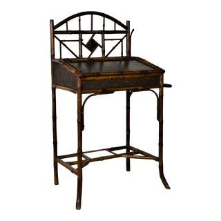 19th-Century Boho Chic Bamboo Writing Table For Sale