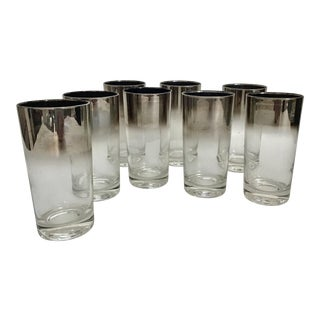 Dorthy Thorpe Style Platinum Ombré Tumblers -Set of 8 For Sale