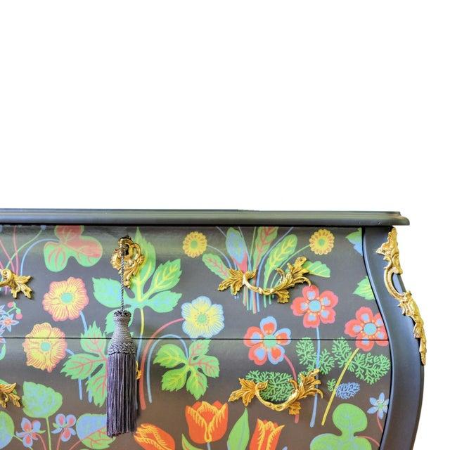 Mid-Century Modern Floral Painted Rococo Bureau - Josef Frank (DaVinci Collection) For Sale - Image 3 of 4