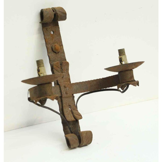 Antique Wrought Iron Sconces - Set of 4 For Sale - Image 6 of 8