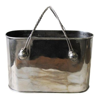 1990s Traditional Silver Plate Double Wine Cooler For Sale