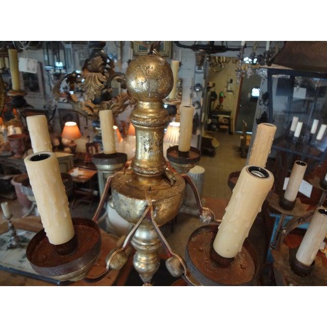 Italian Italian 19th Century Gilt Wood Chandelier For Sale - Image 3 of 10