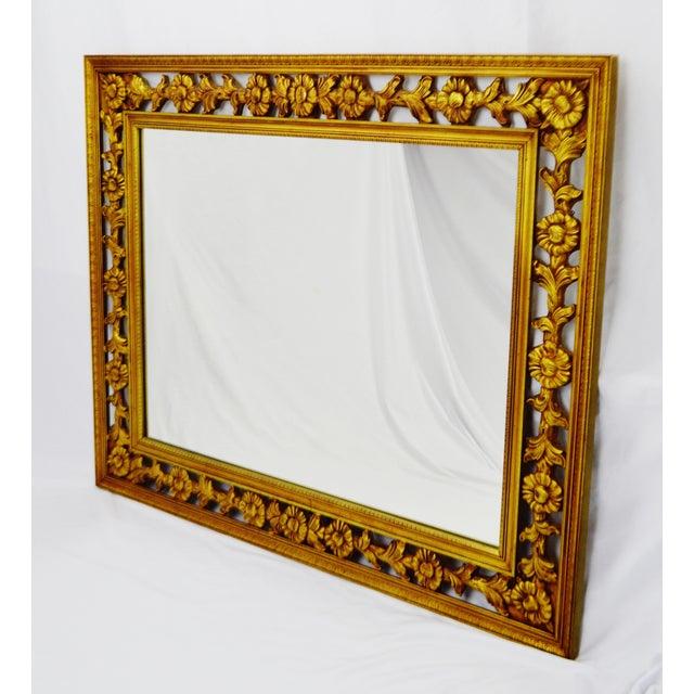 Gold Gilt Pierced Wall Mirror - Image 8 of 9