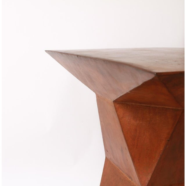 Custom made Geometric Console Table circa 1980's. Inspired by the legendary design of Emilio Terry's ledge table, our...