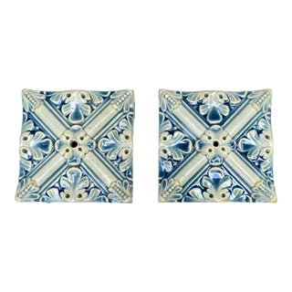Antique French Hand Made Tiles For Sale