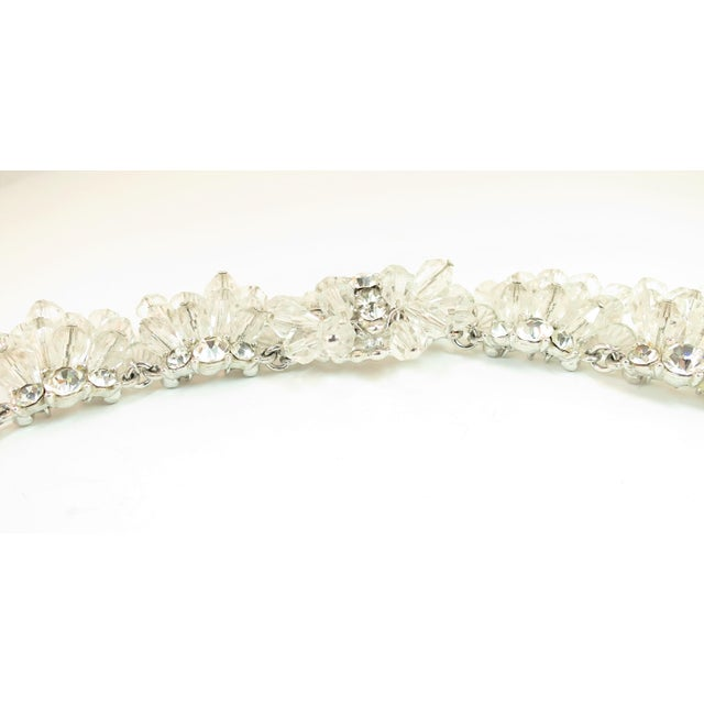 Mid-Century Hand-Made Austrian Crystal Cluster Necklace Suite 1950 For Sale - Image 10 of 13