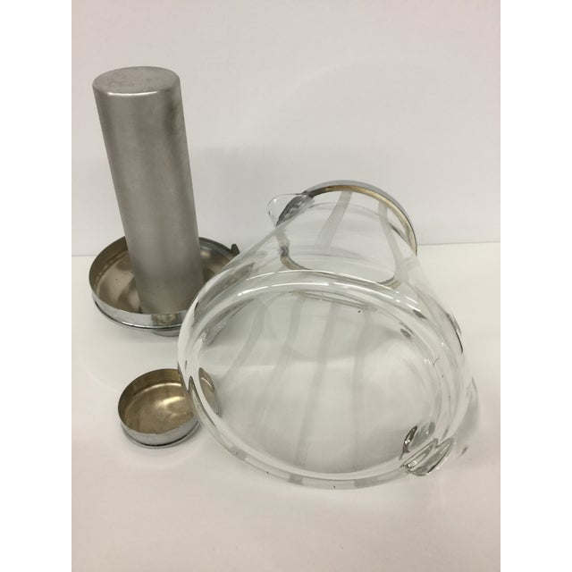 1960s Mid-Century Modern Mint Glass Decanter For Sale - Image 9 of 11