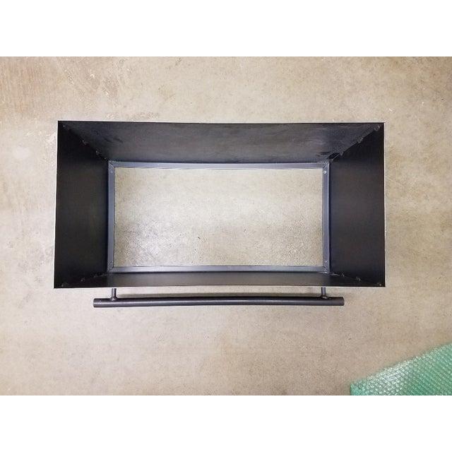 Metal ABC Carpet Mod Steel Coat/Hat Rack With Shelf For Sale - Image 7 of 7