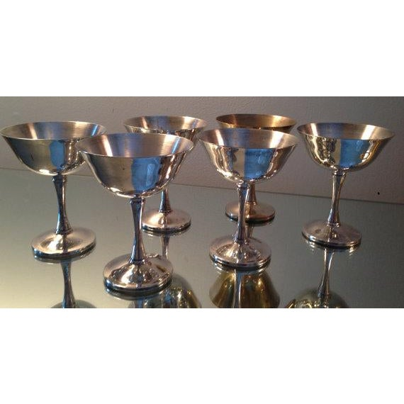 Silver Plated Stemmed Goblets - Set of 6 - Image 2 of 6