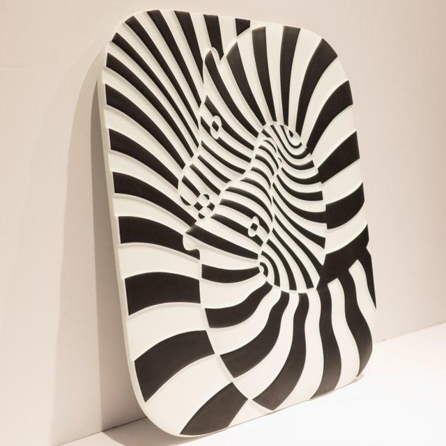 Rosenthal Studio Line Victor Vasarely Op Art Plaque for Rosenthal For Sale - Image 4 of 7