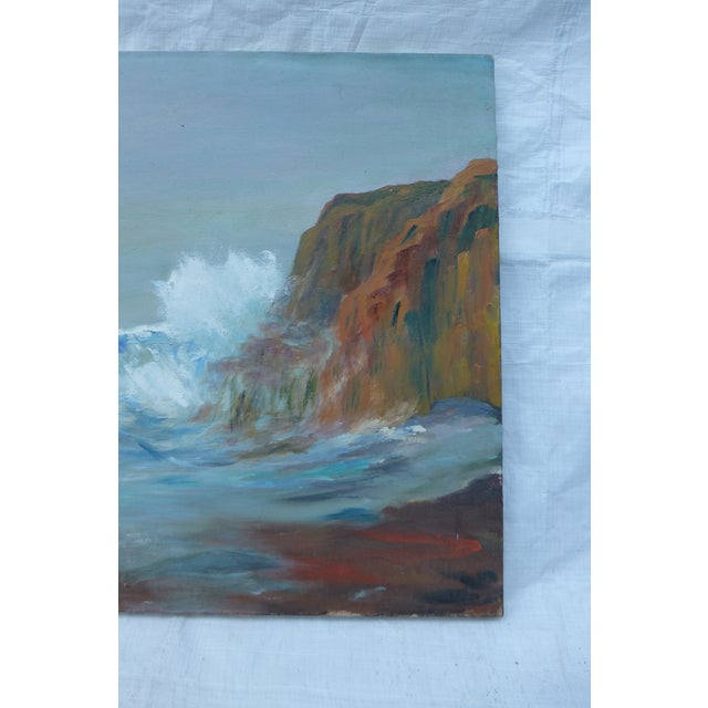 MCM Painting of Rocky Shore by H.L. Musgrave - Image 4 of 6