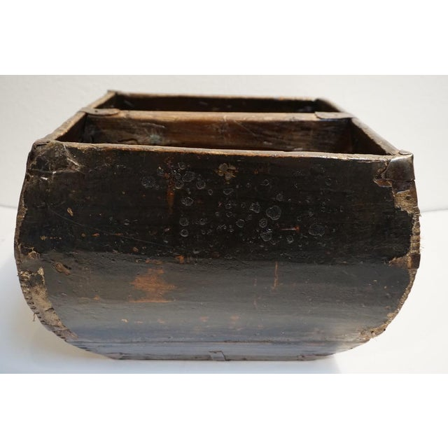 Early 20th Century Antique Lacquered Chinese Rice Bucket For Sale - Image 5 of 9