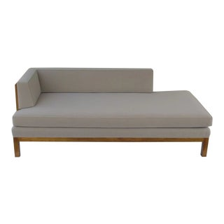 Mid Century Walnut Chaise Lounge For Sale