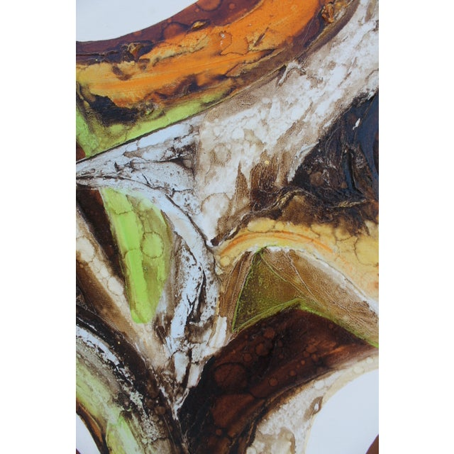 A- Large Vintage Expressionist Abstract Painting - Image 8 of 11