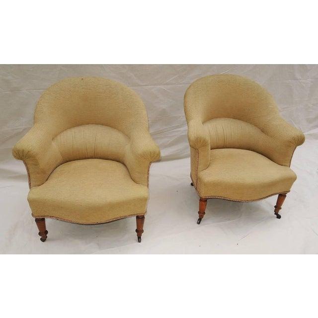 Wood Pair of Napoleon III Armchairs For Sale - Image 7 of 8