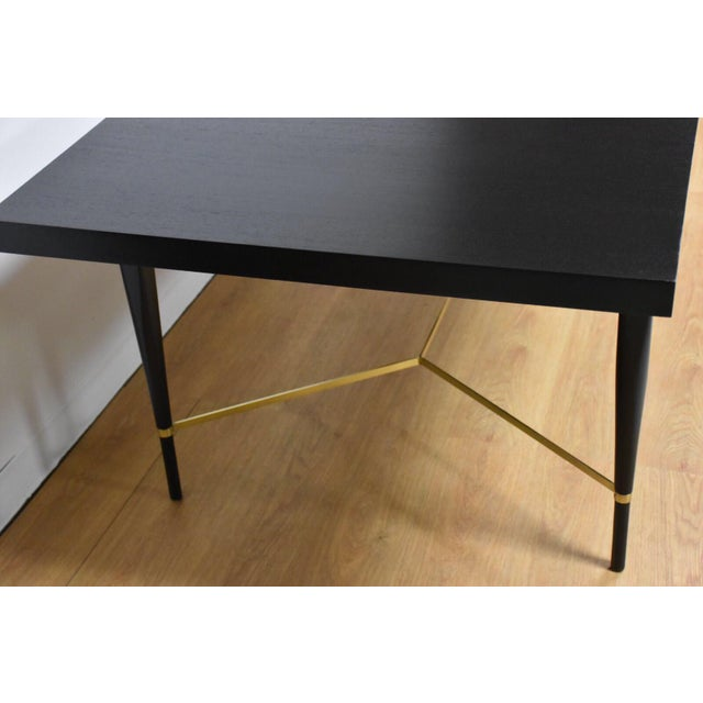 Black and Brass Dining Table by Paul McCobb - Image 2 of 10