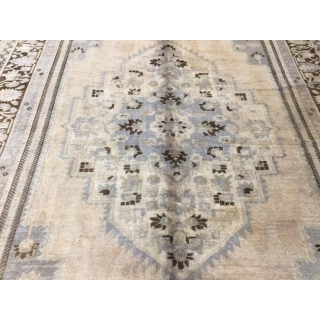 """1950s 1950's Turkish Kaspinar Rug-7'7""""x12'9"""" For Sale - Image 5 of 11"""