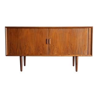 1965 Danish Modern Svend Aage Larsen for Faarup Mobelfabik Tambour Credenza For Sale